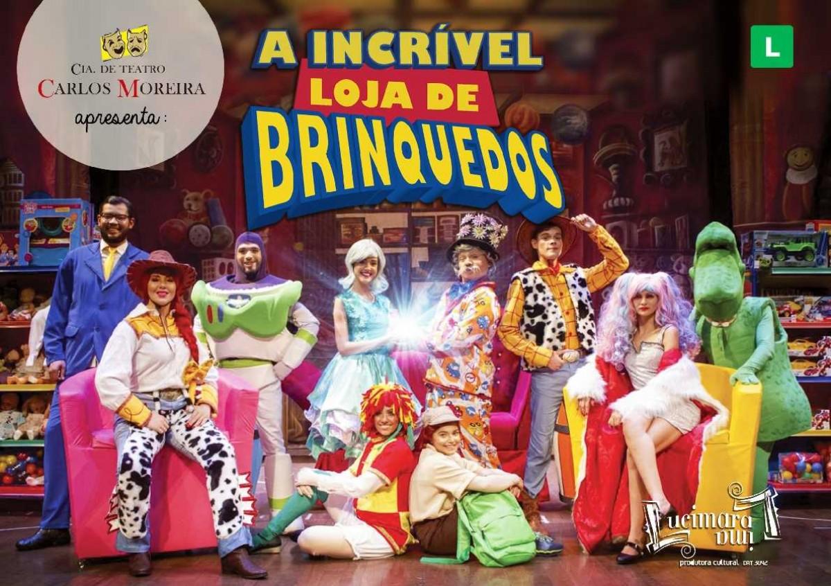 """Cia de teatro Carlos Moreira traz a Aracaju: """"A Incrível Loja de Brinquedos"""" (Imagem: Divulgação)"""