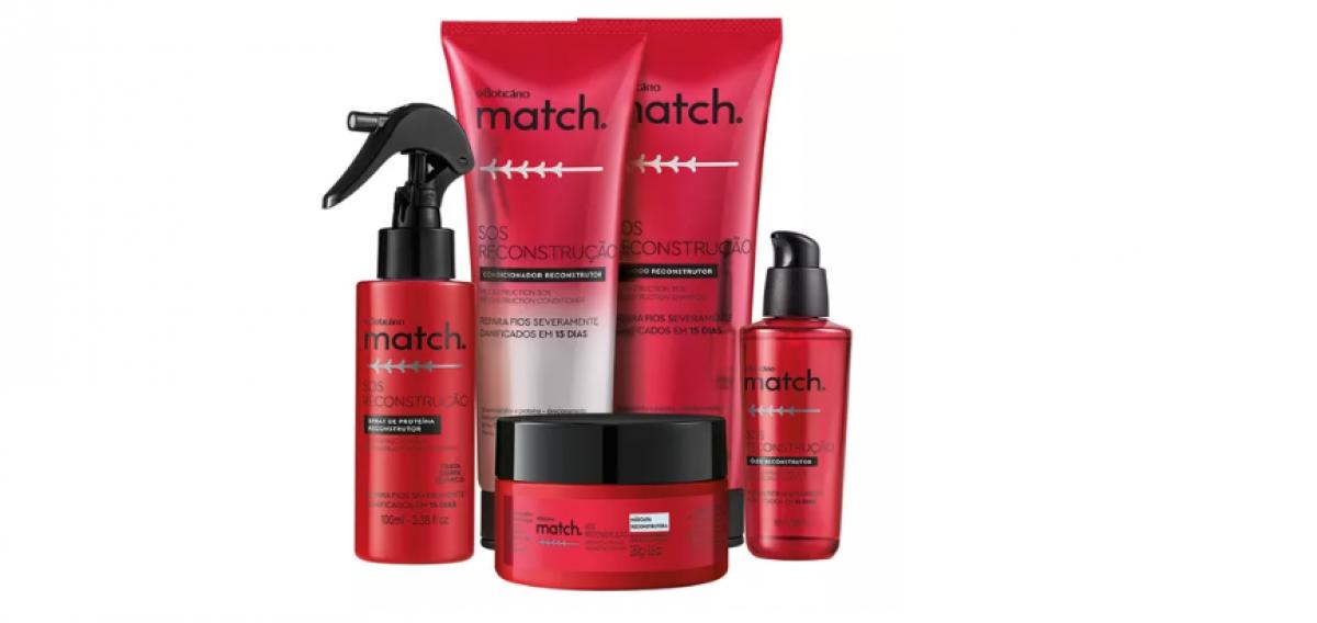 O Boticário lança nova linha de Match que repara cabelos danificados em 15 dias (Imagem: Divulgação)