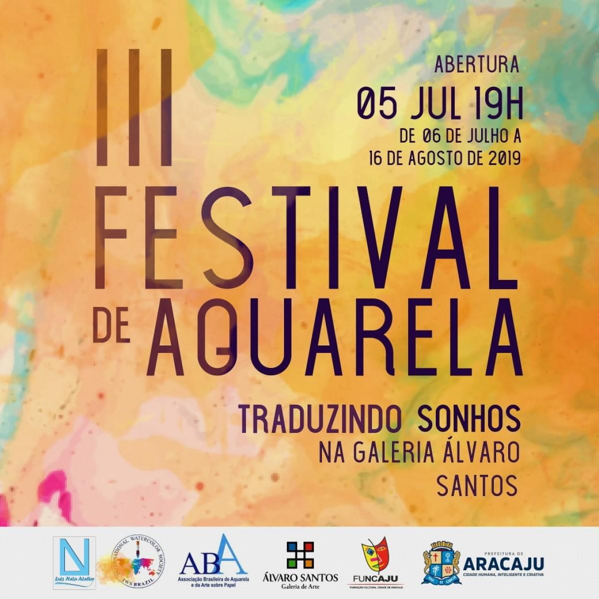 Galeria de Arte Álvaro Santos sedia o III Festival de Aquarelas (Imagem: Divulgação/ Funcaju)