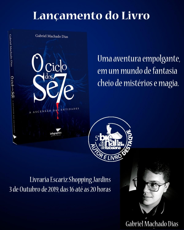 """Escritor Gabriel Machado Dias lança livro """"Ciclo dos Sete"""" (Imagem: Divulgação)"""