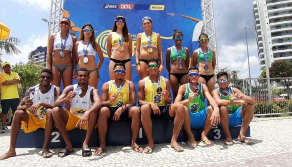 Vôlei de praia: sergipanos são vice-campeões do Brasileiro sub-21 (Foto: Francisco Monteiro/ CBV)