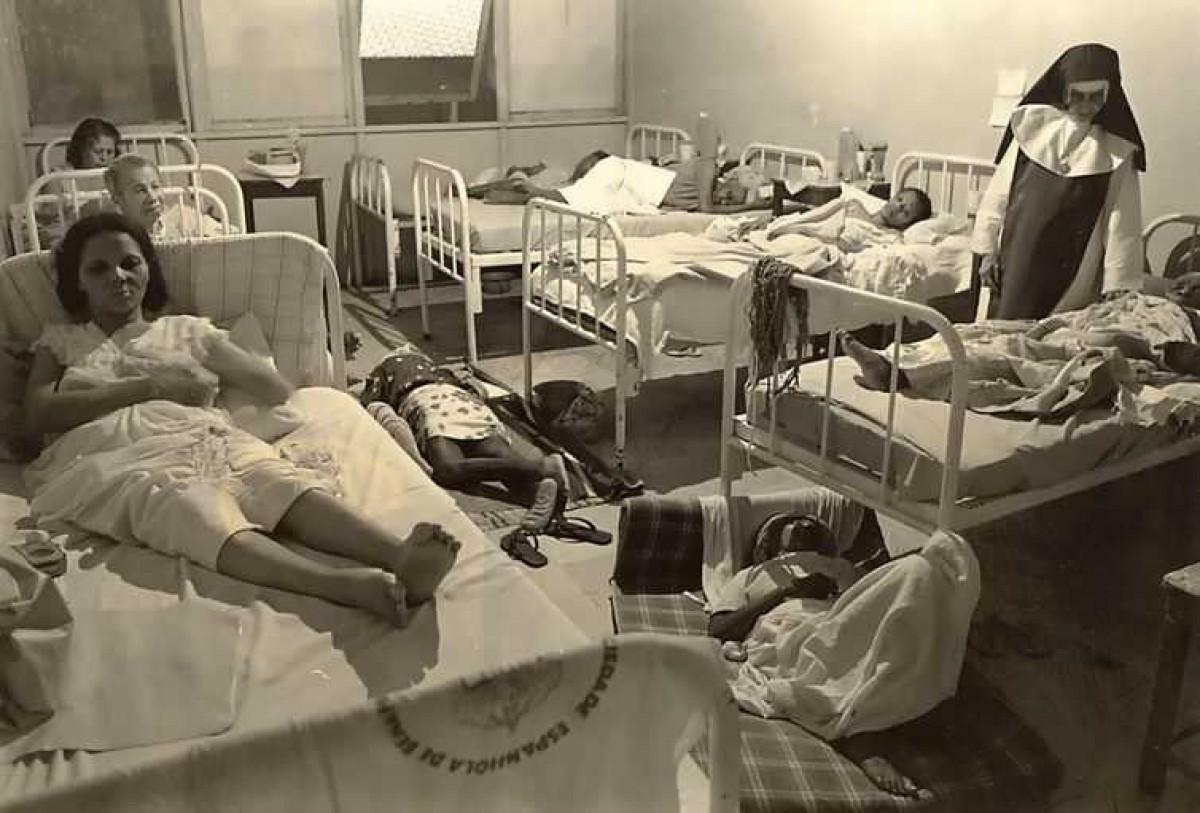 Hospital no lugar do galinheiro (Foto: Acervo Irmã Dulce)