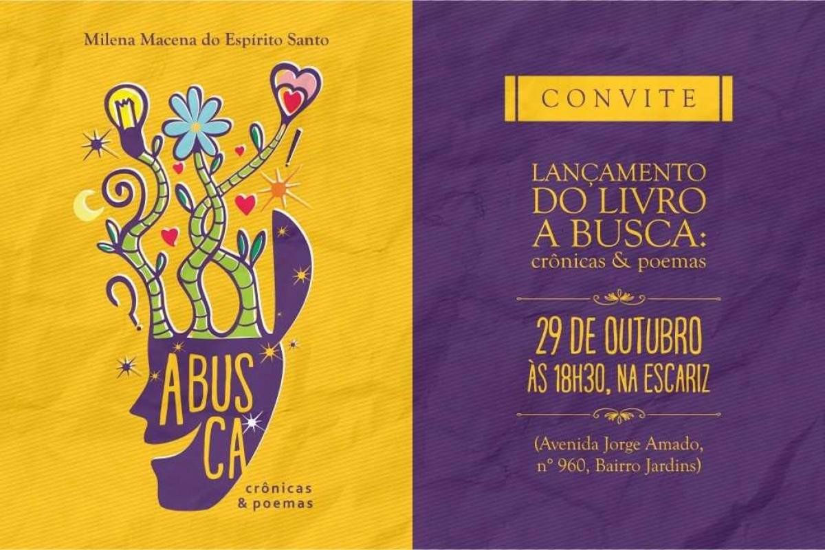 """Livro """"A Busca"""", de Milena Macena, será lançado no dia 29 de outubro (Imagem: Divulgação)"""