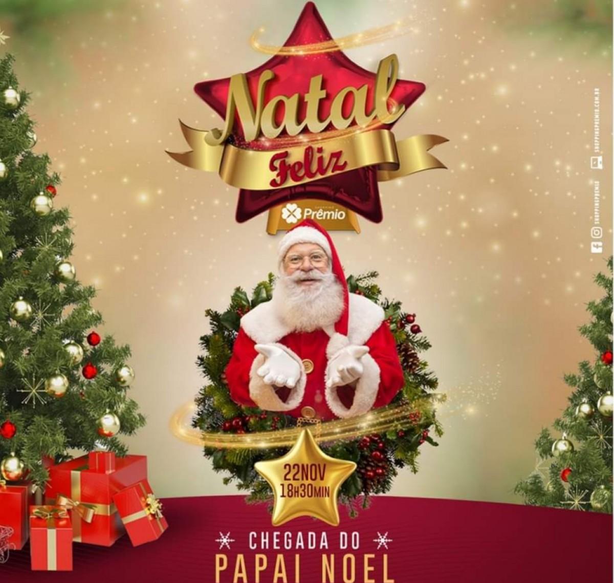 Papai Noel abre programação de Natal no Shopping Prêmio (Imagem: Divulgação/ Shopping Prêmio)
