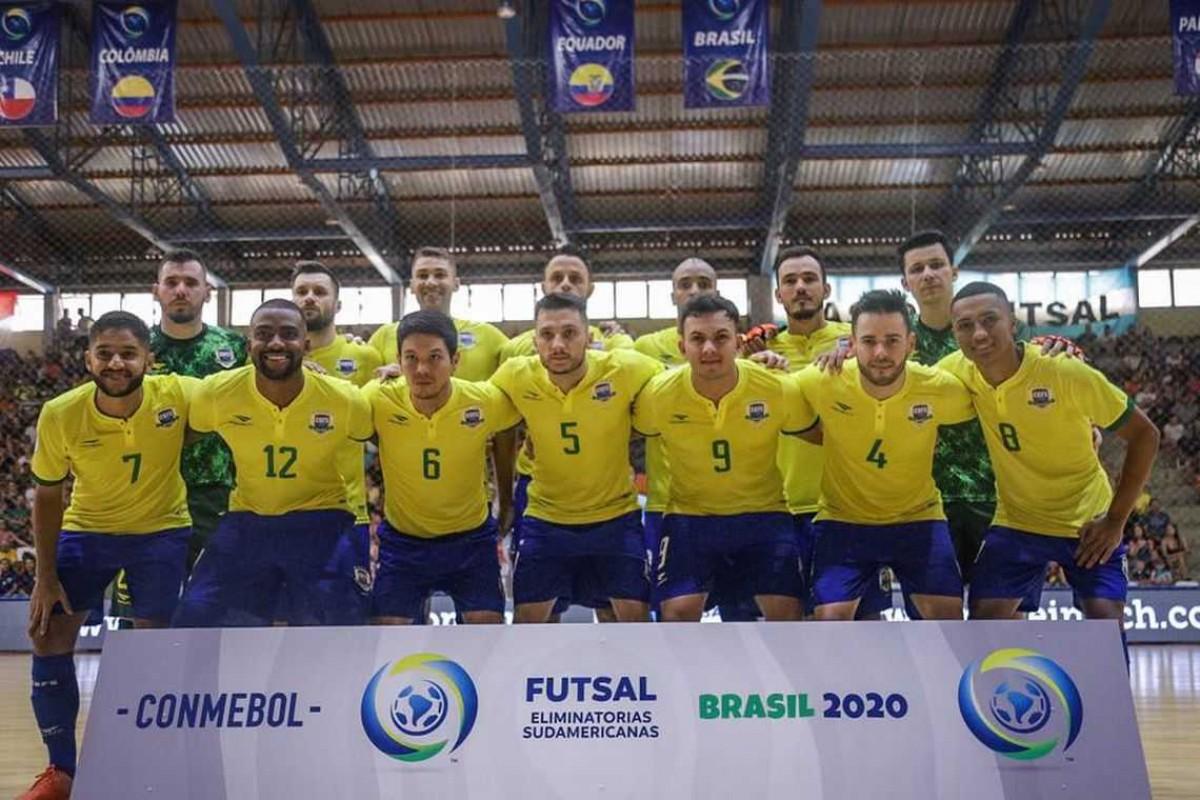 Futsal: Classificado para Copa do Mundo, Brasil goleia na eliminatória (Foto: CBFS)