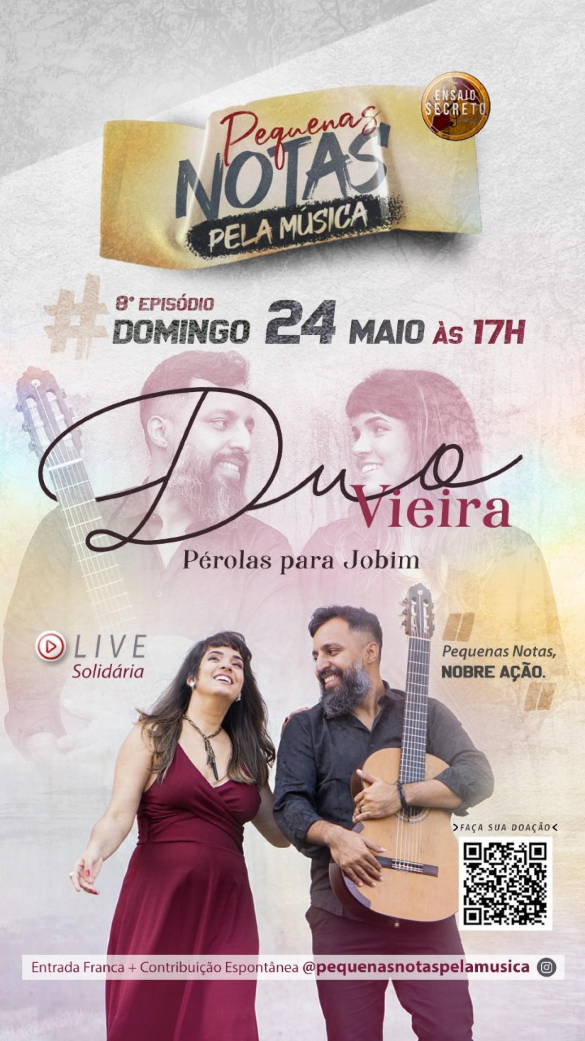 Tom Jobim é revivido em live do Duo Vieira (Imagem: Divulgação)
