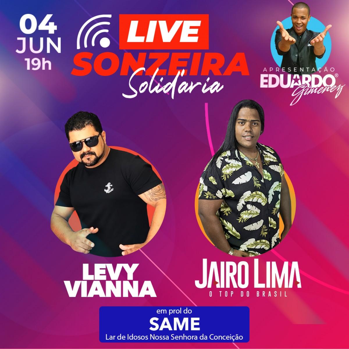 Live Sonzeira Solidária ocorre nesta quinta-feira, 4/6, em prol do Same (Imagem: Divulgação)