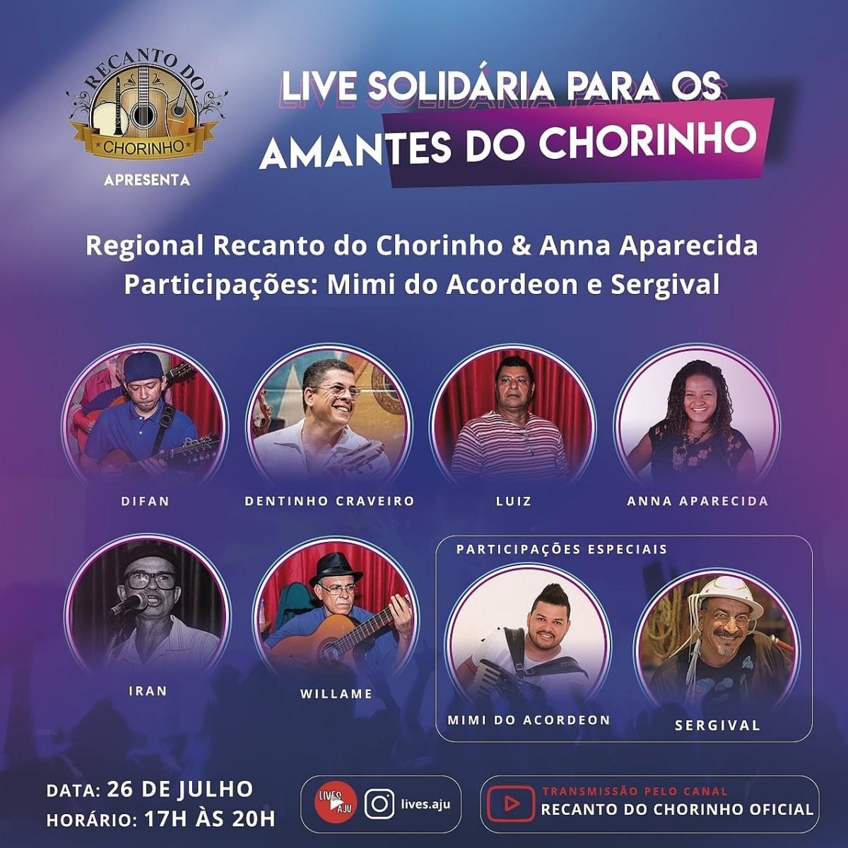 Live solidária para os amantes do chorinho (Imagem: Assessoria do Evento)