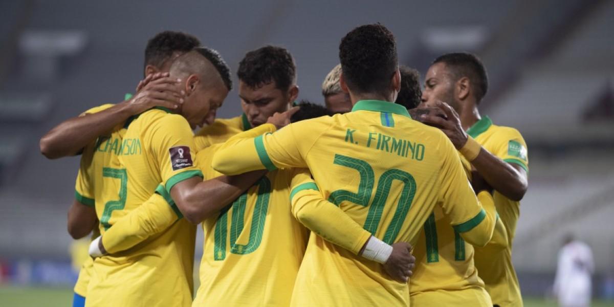 Peru x Brasil em Lima pela segunda rodada das Eliminatórias para a Copa de 2022 (Foto: Lucas Figueiredo/ CBF)