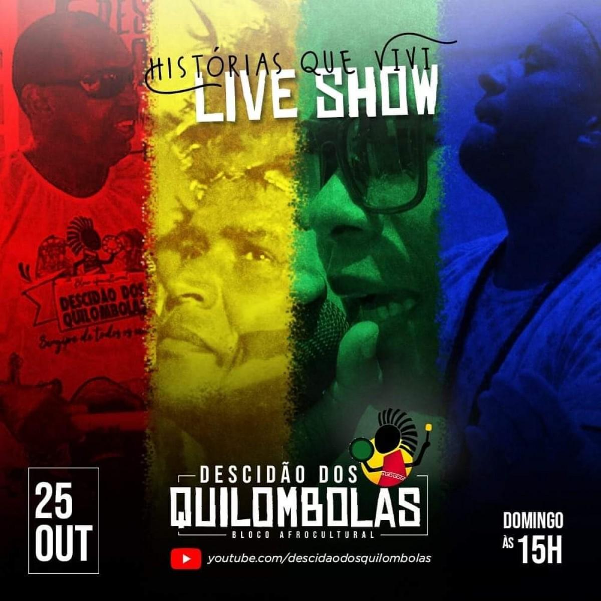 O Bloco Afrocultural Descidão apresenta live Histórias que Vivi (Imagem: Divulgação)