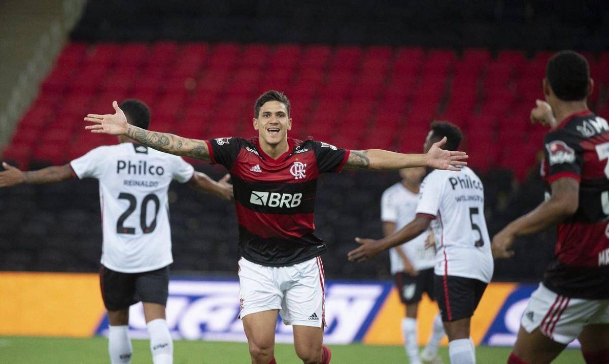 Pedro brilha, Flamengo bate Athletico e prossegue na Copa do Brasil (Foto:  Alexandre Vidal/ Flamengo)
