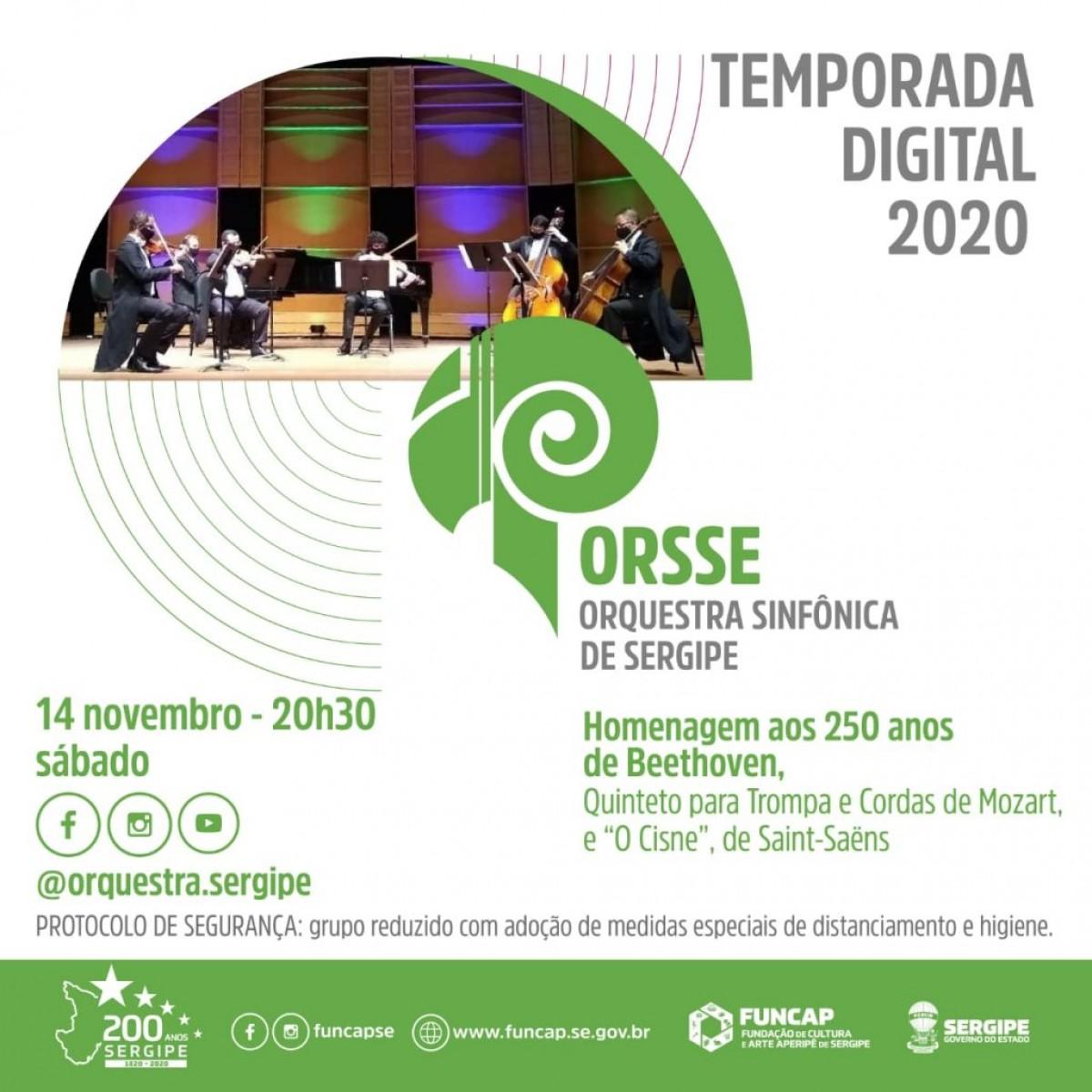 Temporada Digital: Orquestra Sinfônica faz homenagem aos 250 anos de Beethoven (Imagem: Divulgação)