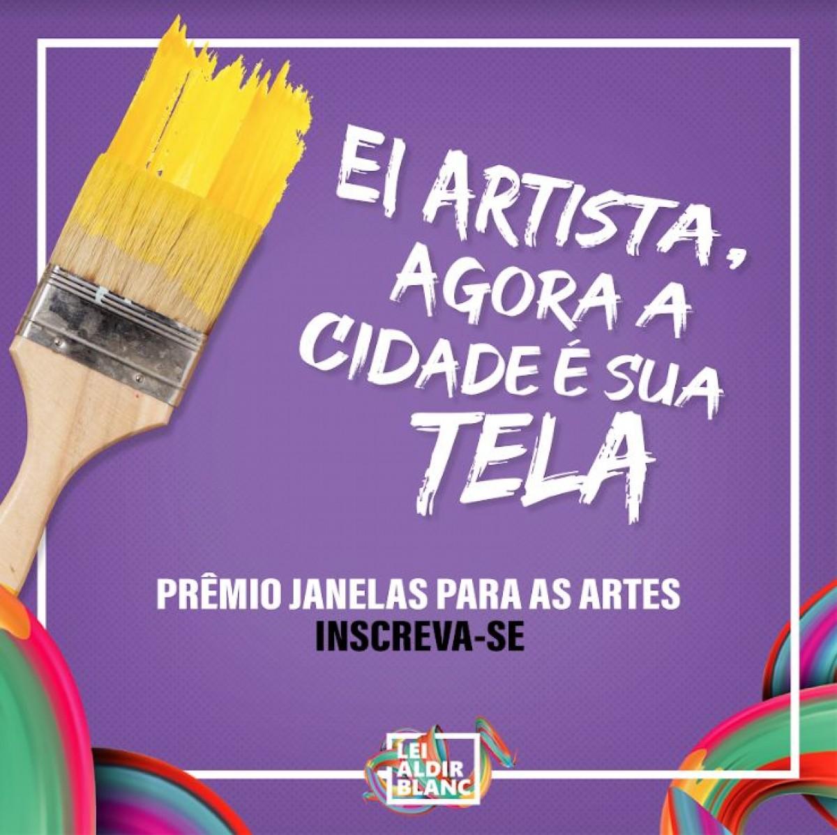 Telas de arte serão multiplicadas nos espaços públicos e privados de Aracaju através do Janelas para as Artes (Imagem: Divulgação/ Secom Aracaju)