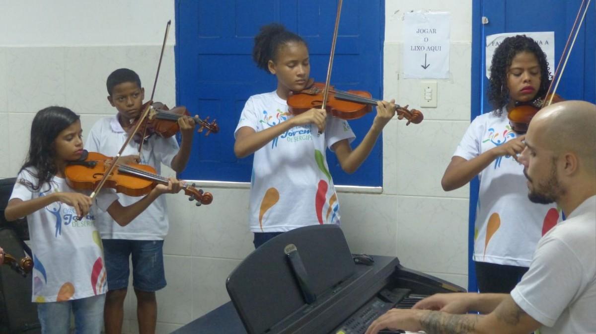 Orquestra Jovem de Sergipe (Foto: Instituto Banese)