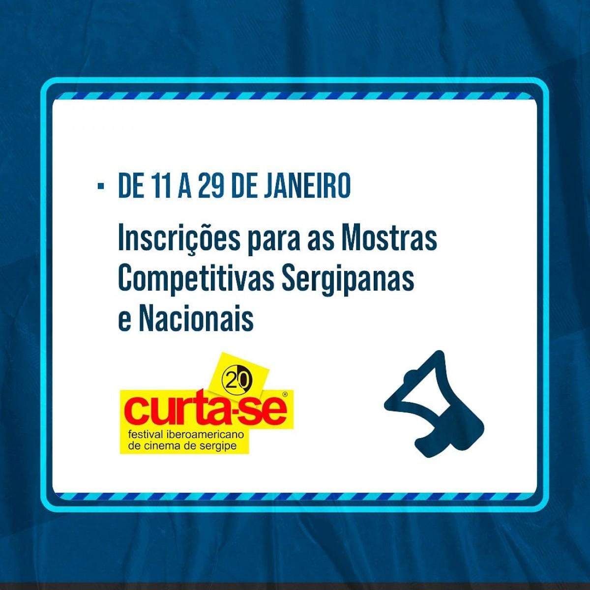 20° Curta-SE: inscrições para mostras competitivas estarão abertas de 11 a 29 de janeiro (Imagem: Divulgação/ Curta-SE)
