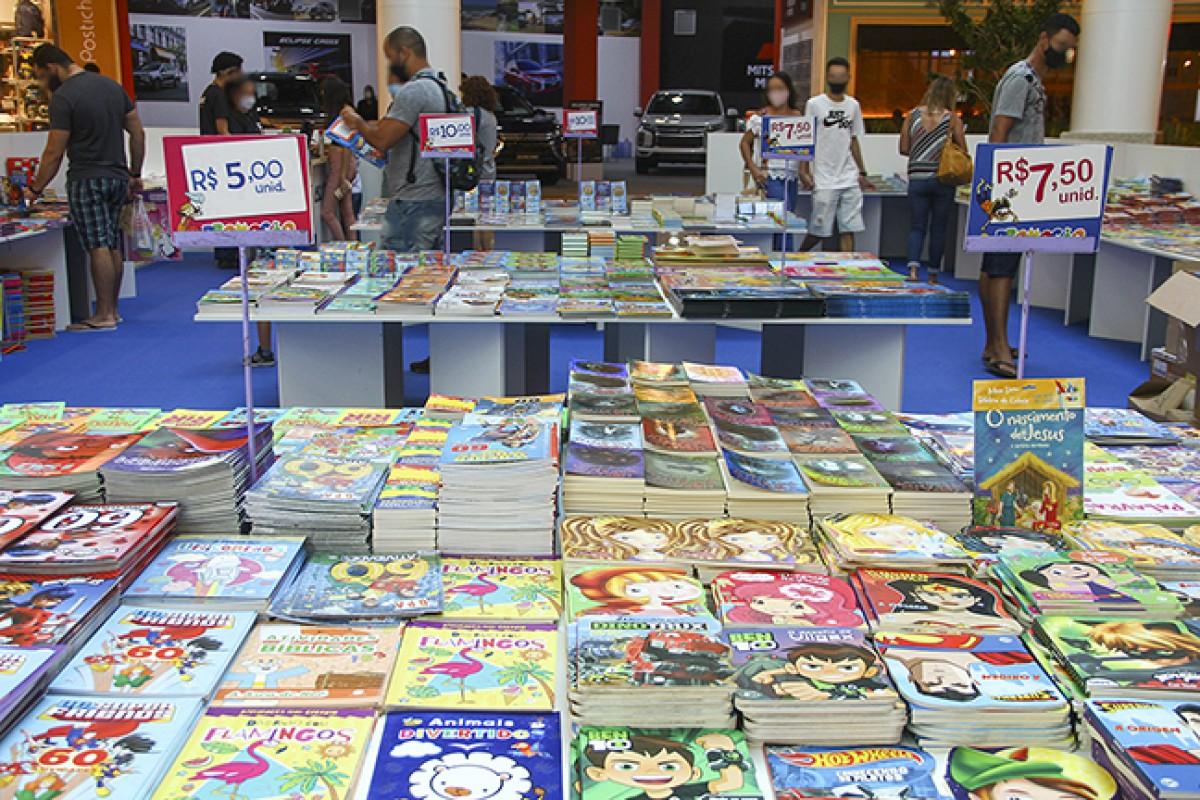 RioMar Aracaju acolhe feira de livros com mais de 600 títulos direcionados a crianças, jovens e adultos (Foto: Divulgação)