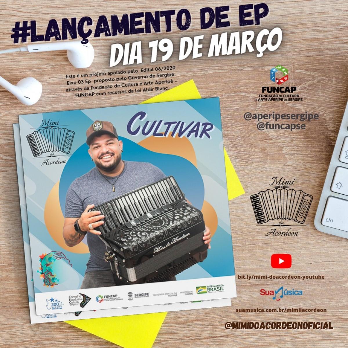 No dia de São José, Mimi do Acordeon lança EP Cultivar (Imagem: Divulgação)