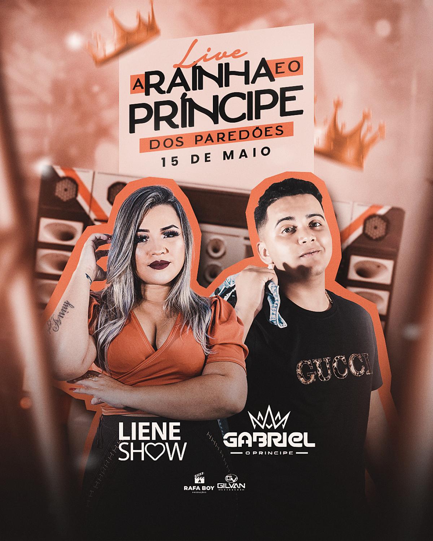 """Gabriel """"O Príncipe"""" e Liene Show farão live (Imagem: Divulgação)"""