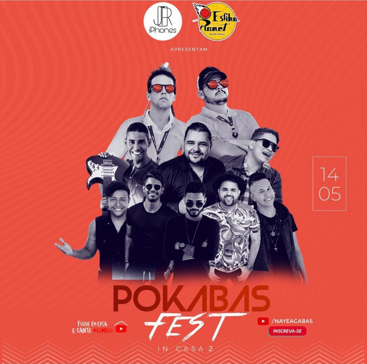 Live Pokabas Fest acontece nesta sexta, 14/5, com diversas atrações (Imagem: Divulgação)