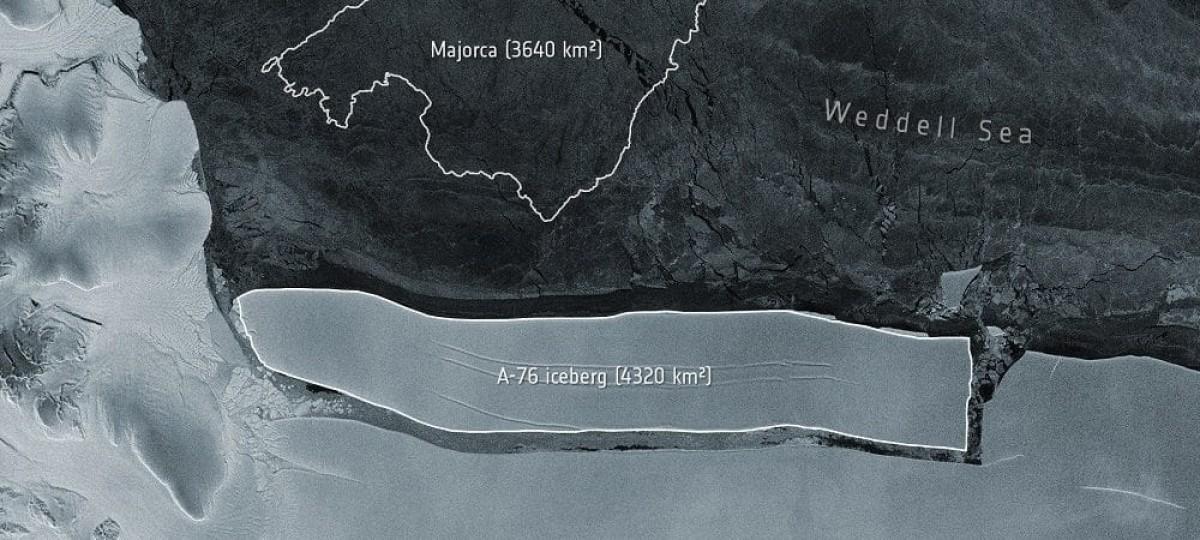 A-76, maior iceberg do mundo, se desprende na Antártida (Imagem: Olhar Digital)