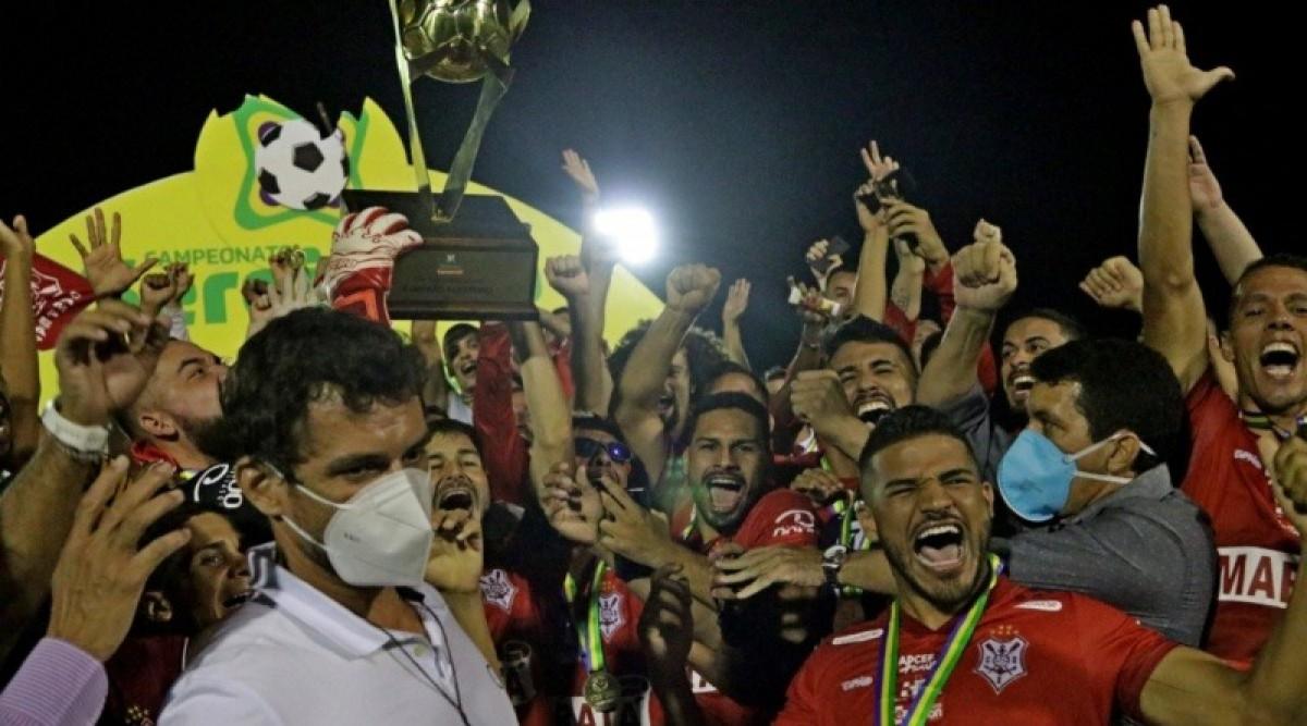 Com a conquista, o Sergipe chegou ao seu 36° título estadual (Foto: Emanuel Rocha/ FSF)