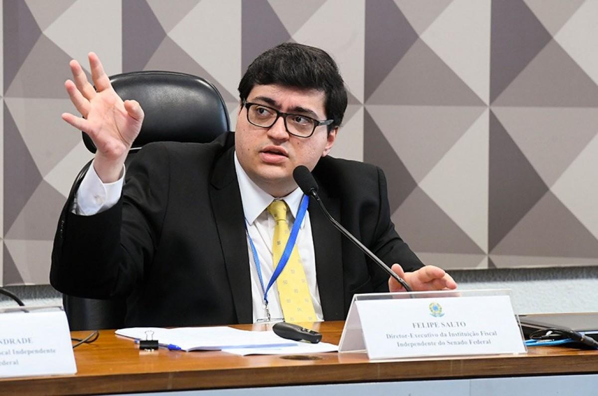 Felipe Salto, diretor-executivo da IFI: redução tributária para as empresas poderá não levar a um repasse para os preços aos consumidores (Foto: Marcos Oliveira/ Agência Senado)