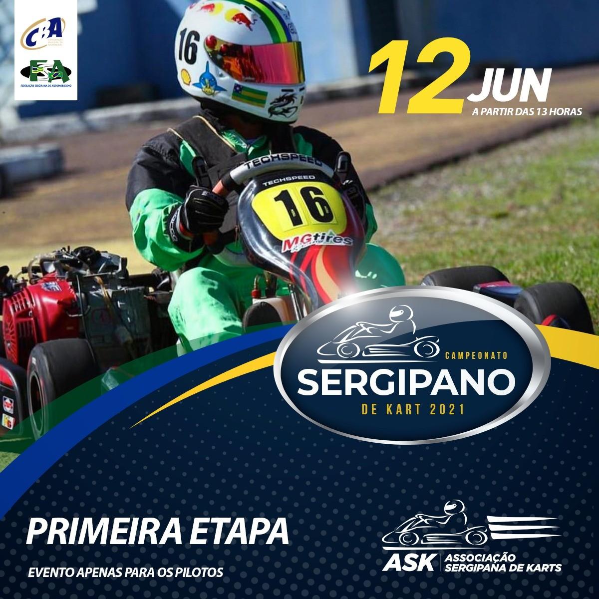 Primeira etapa do Campeonato Sergipano de Kart acontece neste sábado, 12/06 (Imagem: FM Assessoria)