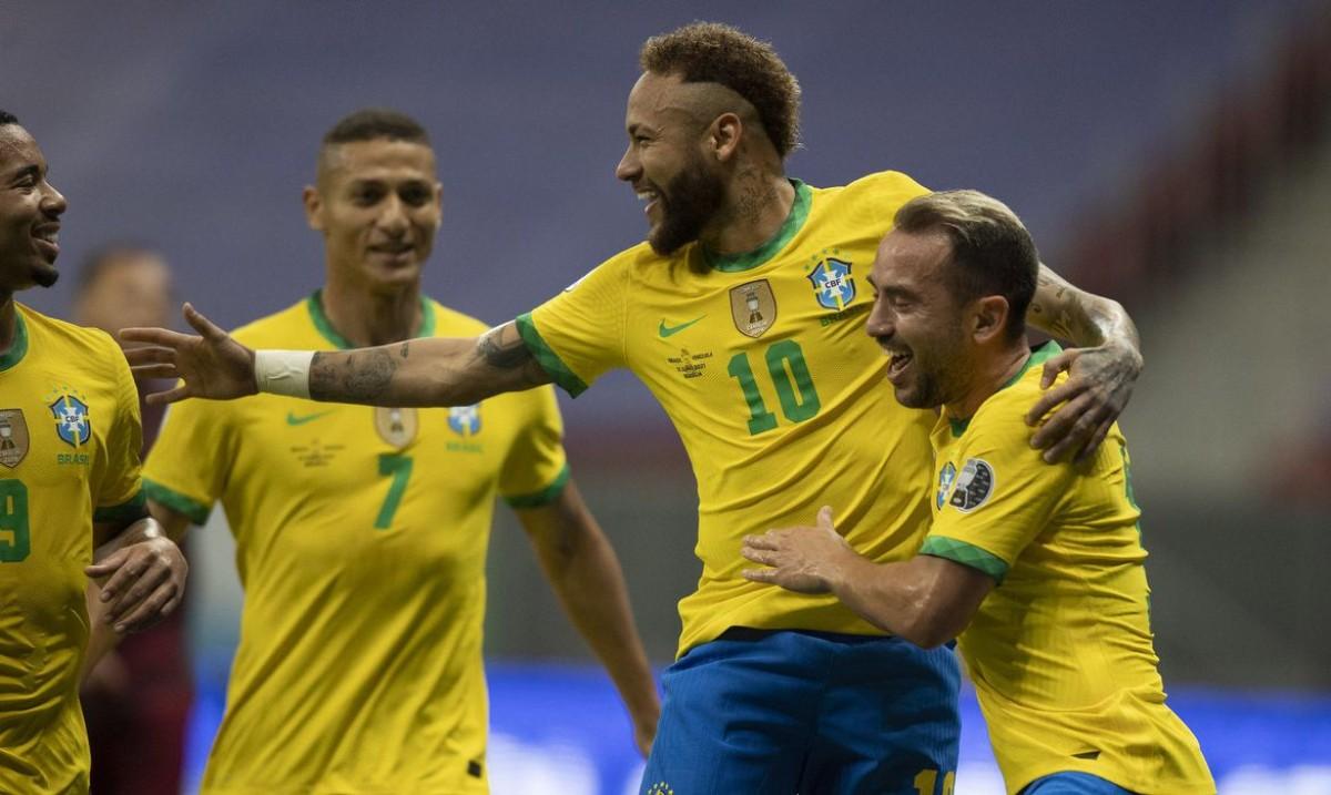 Brasil abre Copa América com boa vitória sobre a Venezuela (Foto: Lucas Figueiredo/ CBF)