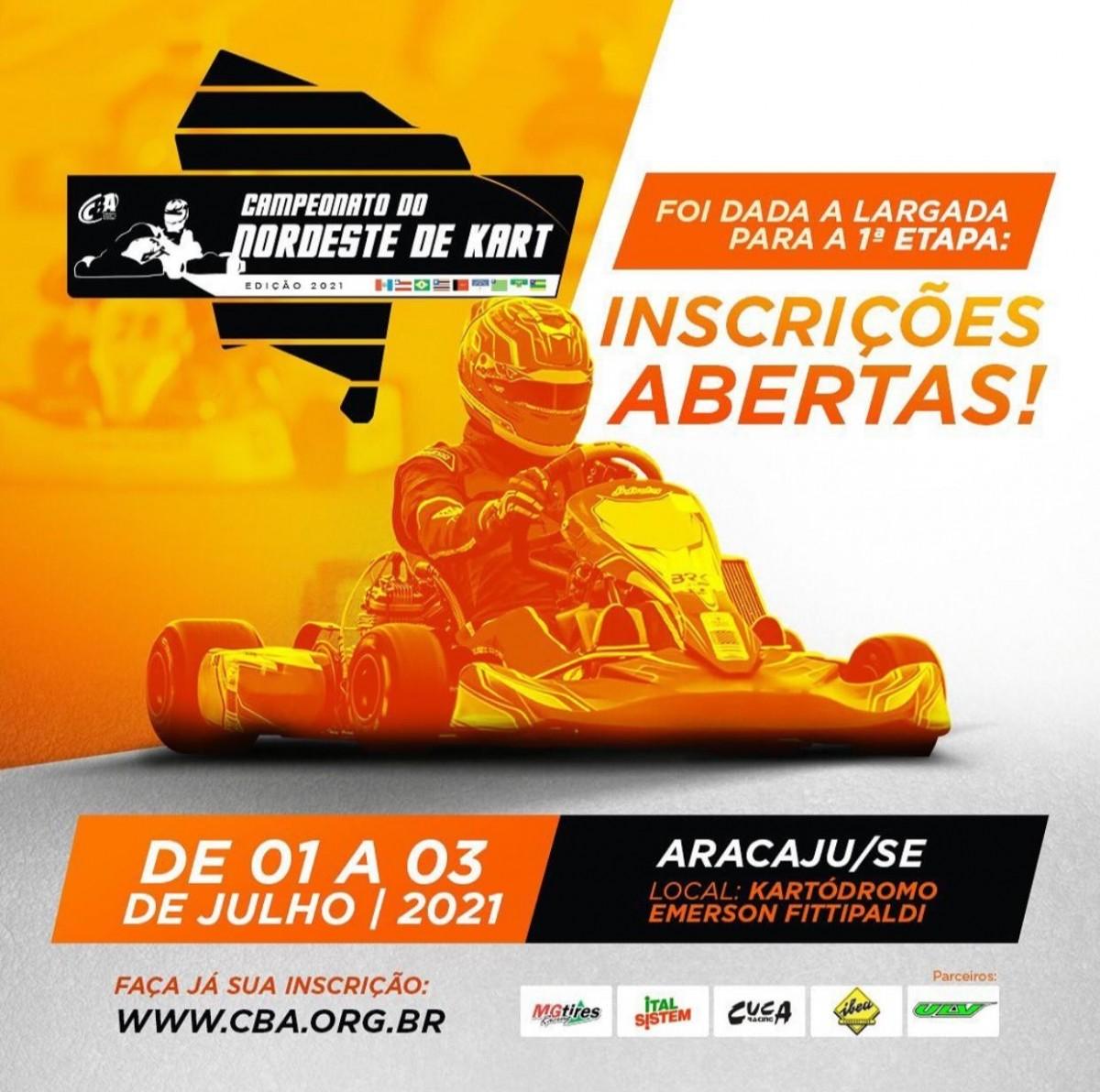 Campeonato do Nordeste de Kart em Sergipe atrai pilotos de todo o país (Imagem: Divulgação)