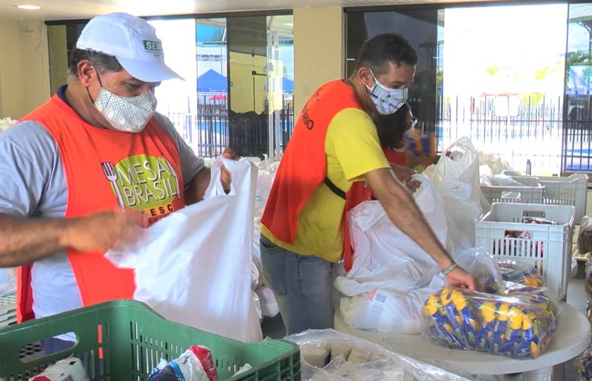 Campanha junina arrecada alimentos para o Mesa Brasil Sesc (Foto: Sesc/SE)