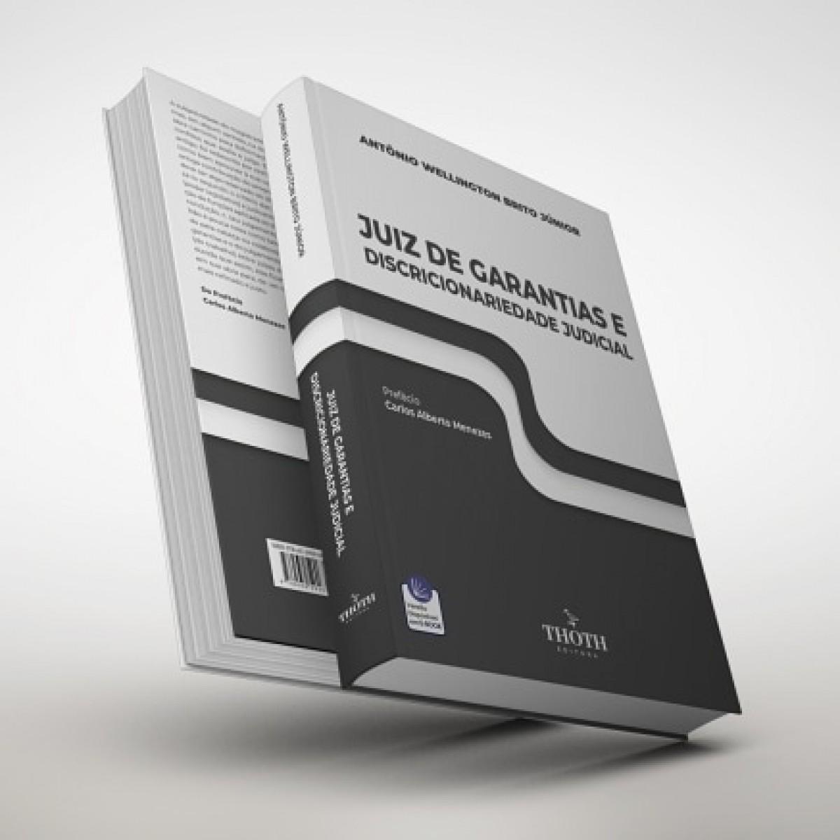 """Capa do livro """"Juiz de Garantias e Discricionariedade Judicial"""" (Imagem: Reprodução)"""