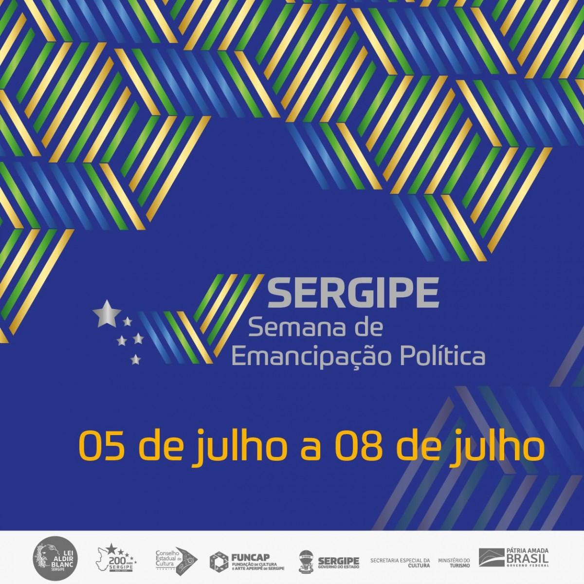 Funcap lança programação especial de Emancipação Política de Sergipe (Imagem: Divulgação)
