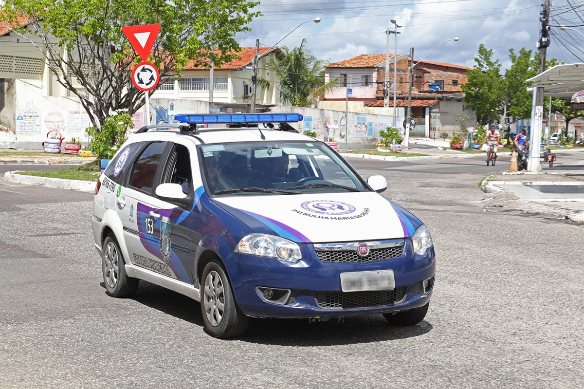 Patrulha Maria da Penha efetua prisão por descumprimento de medida protetiva (Foto: Marcelle Cristinne/ Prefeitura de Aracaju)