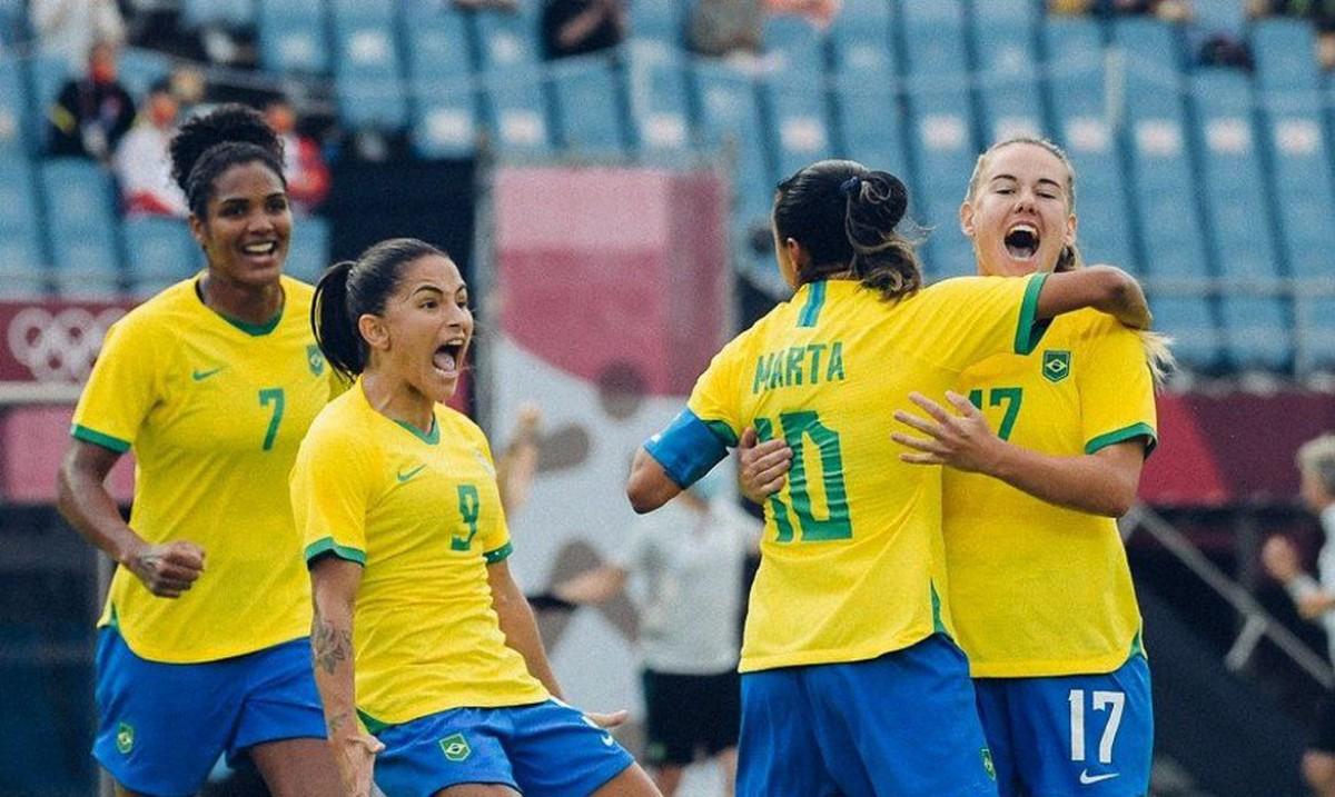 Seleção feminina goleia China na estreia do Brasil na Olimpíada (Foto: Agência Brasil)