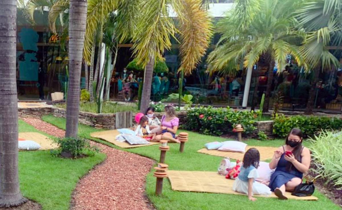 Shopping Jardins abre área verde central para visitação (Foto: Divulgação)