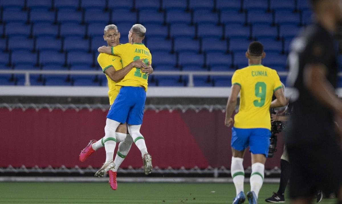 Richarlison brilha e Brasil vence Alemanha na estreia da Olimpíada (Foto: Lucas Figueiredo/ CBF)