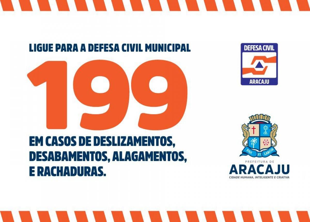 Defesa Civil de Aracaju emite alerta de chuvas de até 50 mm nas próximas 24h (Imagem: Prefeitura de Aracaju)