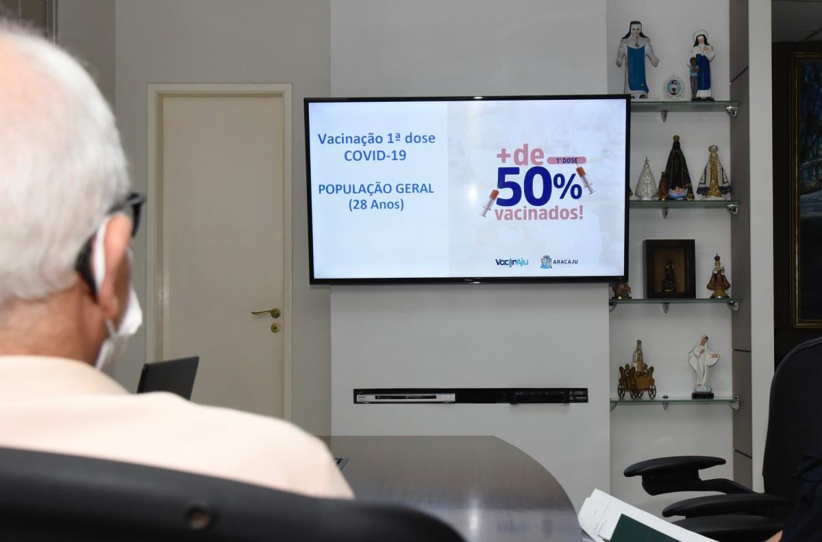 Covid-19: Aracaju vacinará população de 28 anos com a primeira dose (Foto: Ana Lícia Menezes/ Prefeitura de Aracaju)