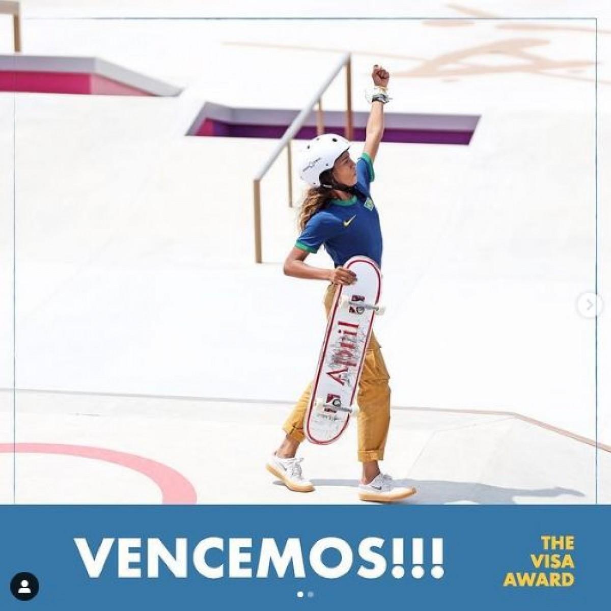 Rayssa Leal vence prêmio de espírito olímpico dos Jogos de Tóquio (Imagem: Reprodução/ Instagram/ rayssalealsk8)
