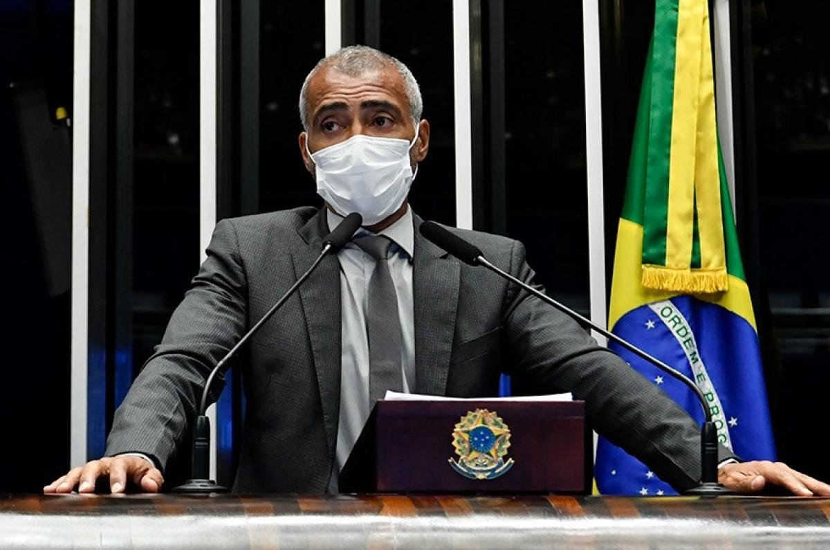 Romário foi o relator da matéria, que promove alterações na Lei Pelé (Foto: Waldemir Barreto/ Agência Senado)