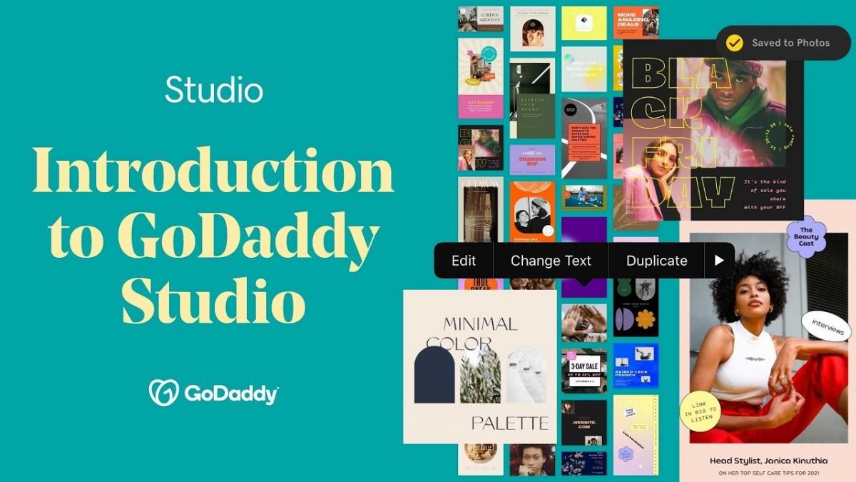 Crie conteúdos visuais com qualidade profissional para suas redes sociais com o GoDaddy Studio (Imagem: Reprodução de vídeo/ YouTube/ GoDaddy)