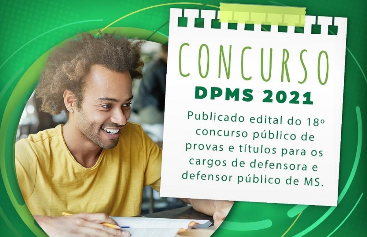Defensoria Pública do MS abre concurso com sete vagas (Arte: DPMS)