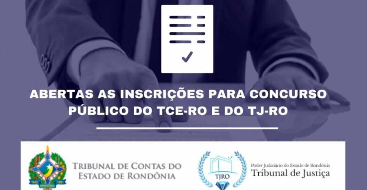 TCE e TJ de Rondônia abrem inscrições para concurso público (Arte: Tribunal de Contas do Estado de Rondônia)
