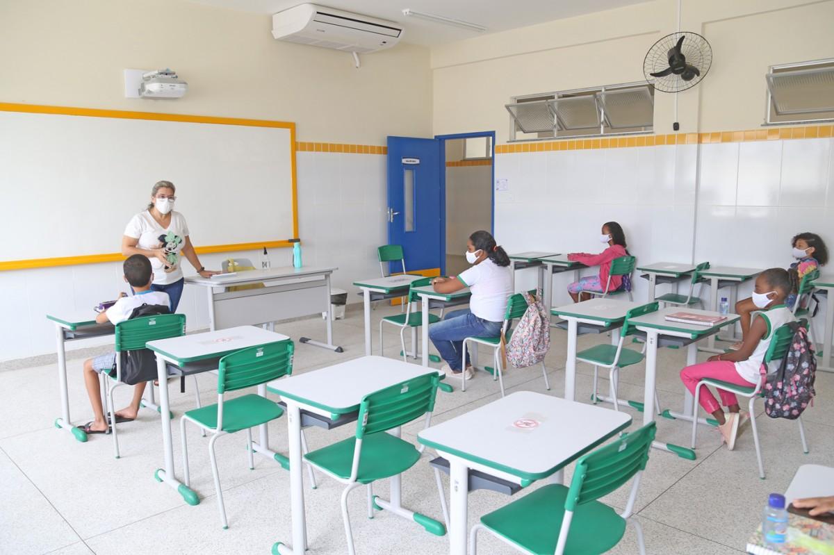 Retorno das aulas presenciais em Aracaju é marcado por acolhimento e novos hábitos  (Foto: Marcelle Cristinne/ Prefeitura de Aracaju)