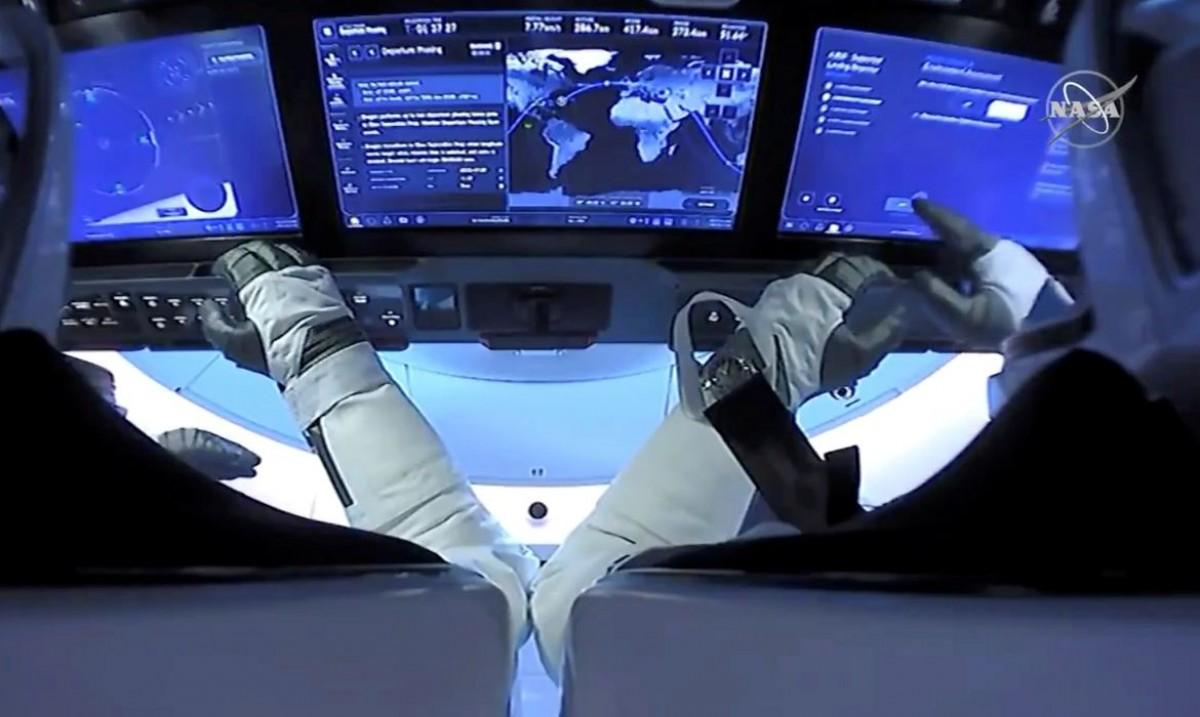 SpaceX faz primeiro voo orbital civil da história (Foto: Nasa)
