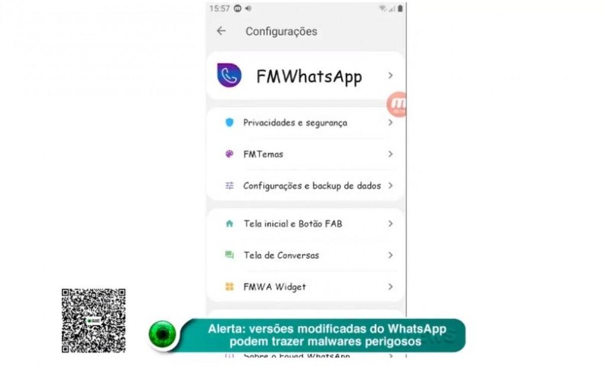 Alerta: versões modificadas do WhatsApp podem trazer malwares perigosos (Imagem: Reprodução de vídeo/ Olhar Digital)