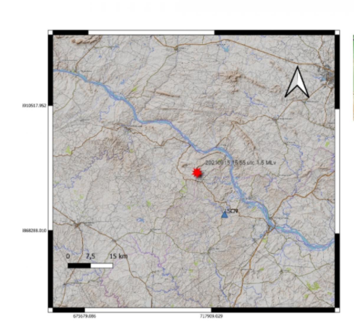 Tremor de terra é registrado no município de Gararu (Foto: Reprodução/ LabSis/ UFRN)