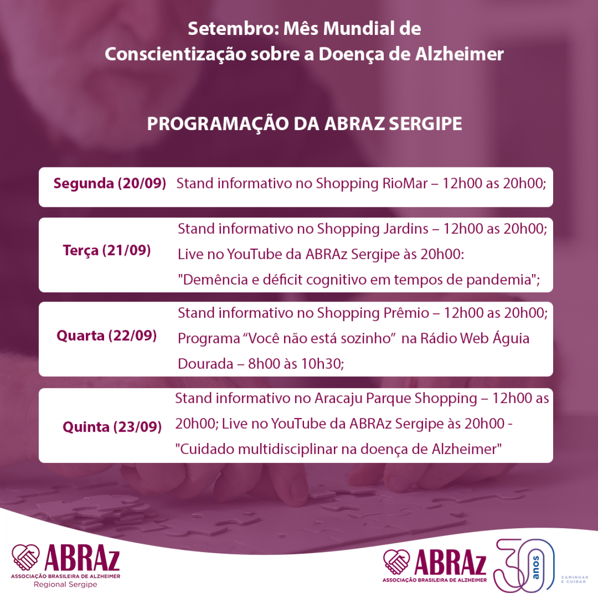 Imagem: Divulgação/ ABRAz/SE