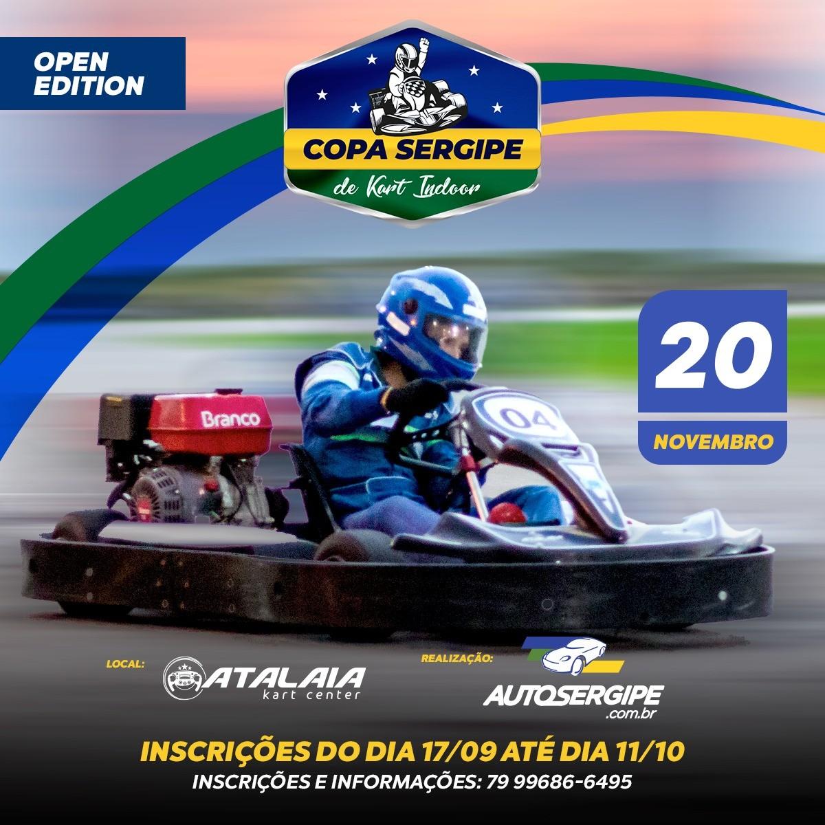 Copa Sergipe de Kart Indoor será realizada em Aracaju (Imagem: Divulgação)