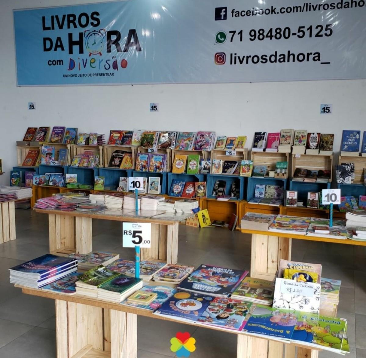 Feira no Shopping Prêmio tem livros a partir de R$ 5,00 (Foto: Assessoria)